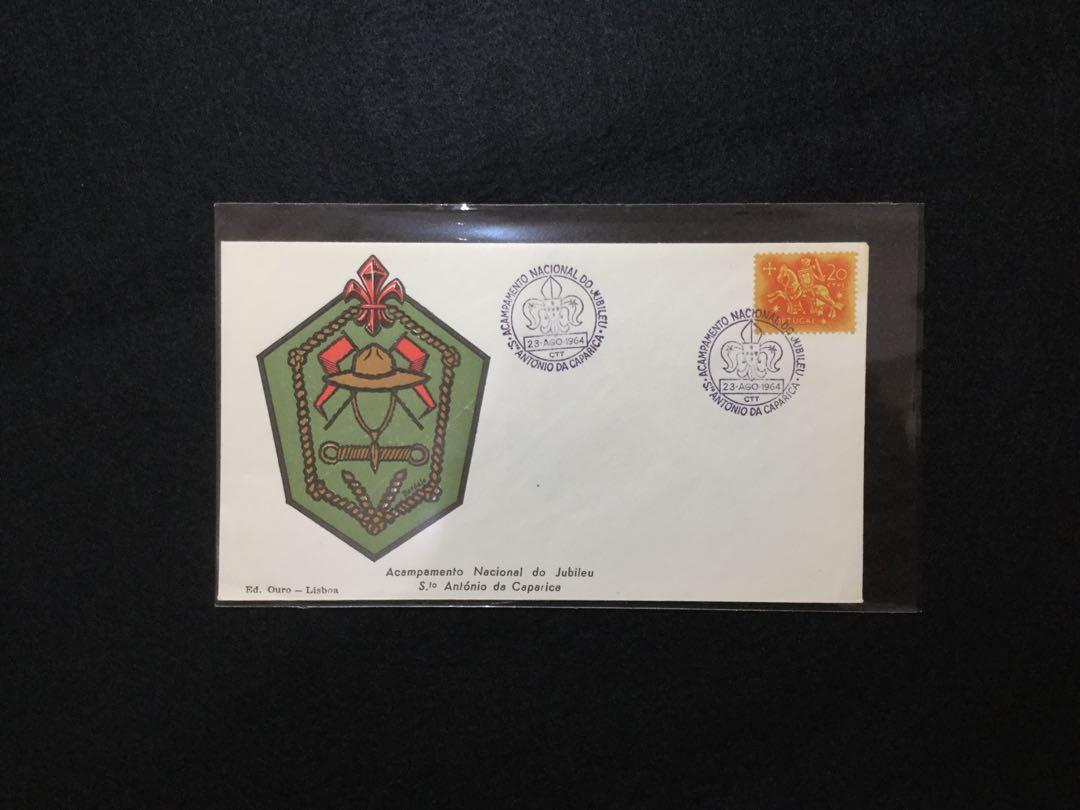 1964 Portugal National Jubilee Camp, St. Antonio De Caparica Souvenir Cover