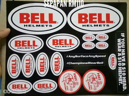 Sticker bell helmets original