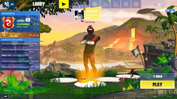 Fortnite With 1800 Vbuck Toys Games Video Gaming Video Games On