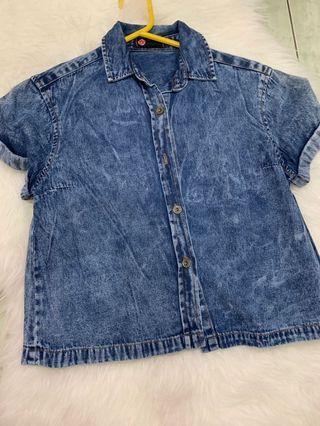 Jeans Crop Shirt