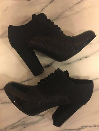 Black Lace Up Booties by Novo Size 7 Never Worn As New