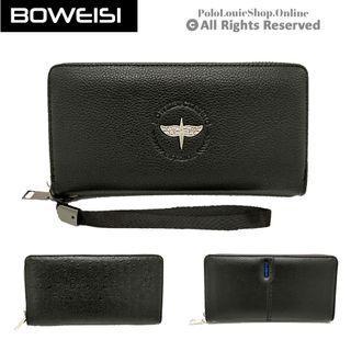READY STOCK BOWEISI Man Women Genuine Leather Long Wallet Zip Purse Phone Clutch