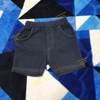 Soft Denim Short Pants