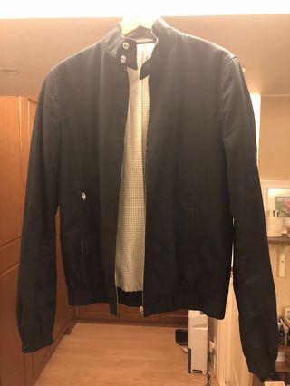 Sandro Black Leather collar Harrington Bomber Jacket Small