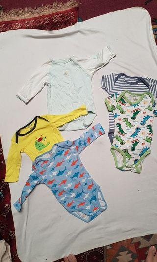 Carters dan baby gap romper set