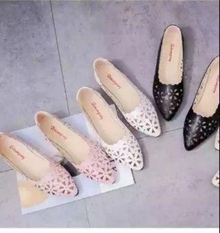 Korean laser cut floral flats Shoes