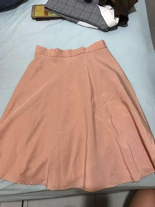 Cream Flare Skirt