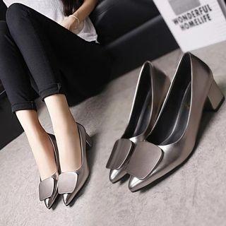 Pradaa inspr metallic Heels shoe