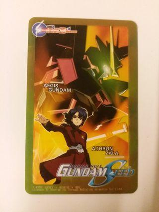 gundam 高達25週年紀念膠卡
