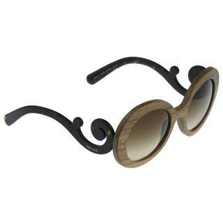 b71e7feae48e3 New Prada Baroque Wood Nut 55 Mm Canaletto Brown Sunglasses