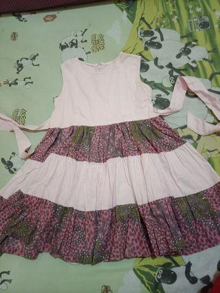 Preloved Dress Katun Batik Anak