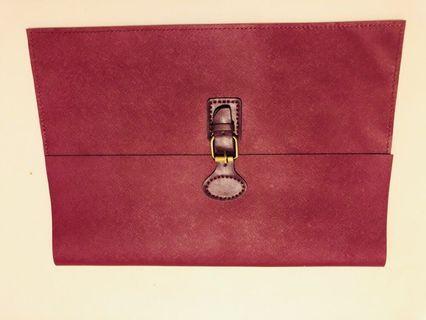 Handmade leather MacBook case