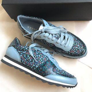Coach flower blue shoes