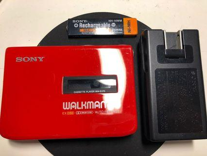 極罕有拉利紅Sony Walkman WM-EX70 made in Japan