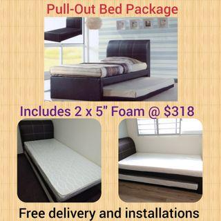 2 in 1 pull-out bed with Mattress @ $318