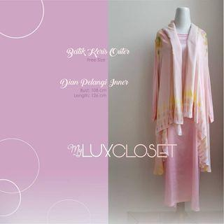 Batik Keris Outer + Dian Pelangi Inner dress