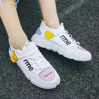 White Patch Multicolor Sneakers size 36-40