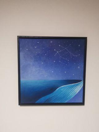 Framed handpainted canvas
