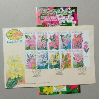 FDC #1 2000 Flora tanah tinggi Malaysia siri II