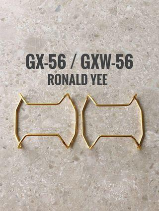 Custom Gold metal bull bar for GXW-56   , GX-56 , protective cover , gx56 , gxw56  , gshock , g-shock , Casio , CASIO , Casio