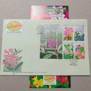FDC #2 2000 Flora tanah tinggi Malaysia siri II