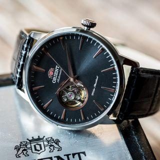 [BNIB] Orient Esteem II Open Heart Automatic FAG02001B0 Black Leather Men's Watch