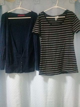 Pullover knit plus one divided by HM striped top