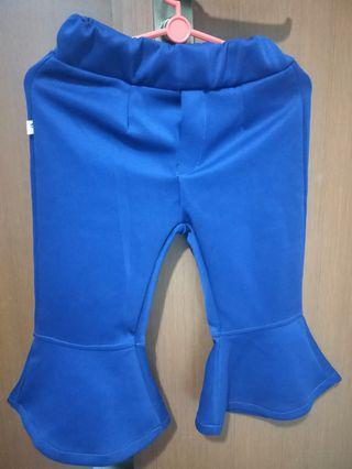 🚚 Kids Blue and Black Pants Pallazo 2 for $10