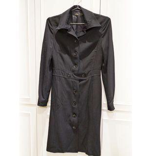 🚚 MAG薄黑色長外套 修長顯瘦 春天最適合穿搭
