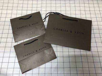 《全新》CHARLES&KEITH 紙袋