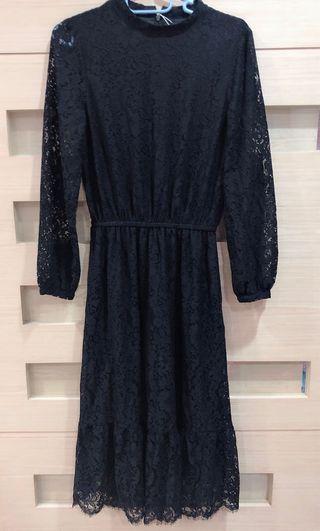 Pazzo蕾絲洋裝(黑M)