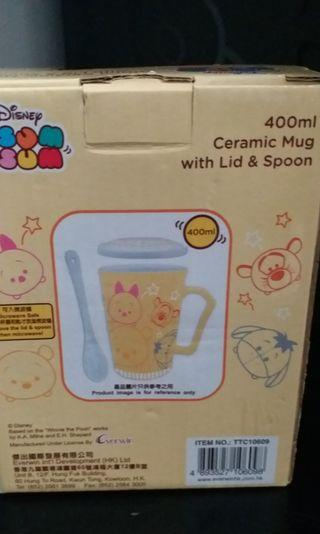 TSUM TSUM 連蓋杯 Ceramic Mug with Lid & Spoon