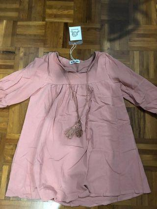 Tie loose Korean dress