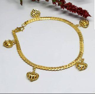 916 Gold Bracelet Love Nett