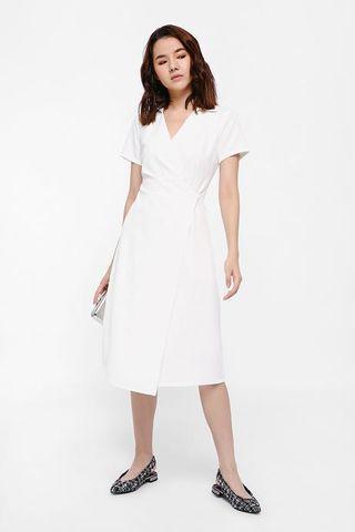 🚚 LB Oyolera Pleat Detail Wrap Dress - S