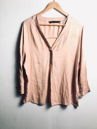 zara blouse satin