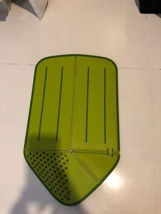 chopping board and drainer