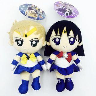 [Both For $48] Sailor Saturn And Sailor Uranus Soft Toy Plush Doll Sailor Moon 20th Anniversary Crystal Release Collectible