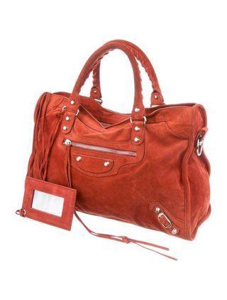 🚚 ✨Balenciaga Classic City Suede Bag