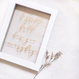"[Rent] I still fall for you everyday Photo Frame (8"")"