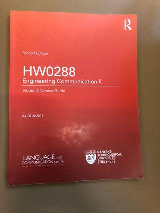 HW0288 Engineering communications 2 ntu textbook AY 2018/2019