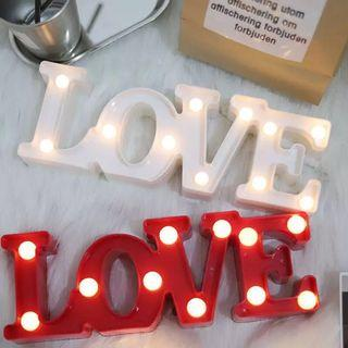 [Rent] LOVE LED Lights (Red/White)