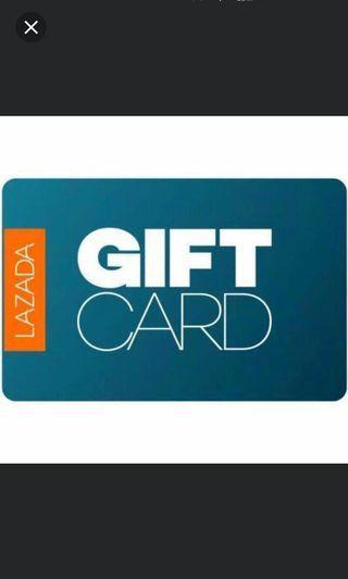 Lazada gift card voucher