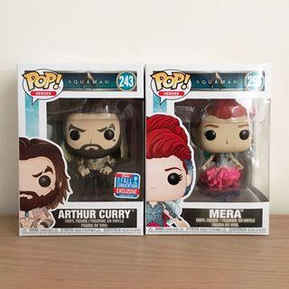 Funko Pop Aquaman 2018 Fall Convention Exclusive + Mera In Dress/Gown Set