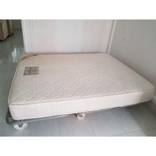Selling 2 mattresses and sofa bed frame as 1 set
