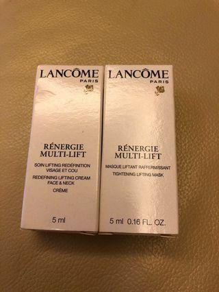 Lancôme Sample 日霜及面膜共2件