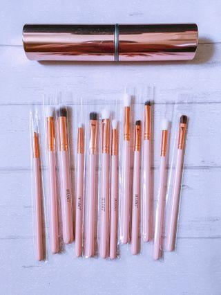 🚚 BNIP 12 Makeup Brush Set In Rose Gold