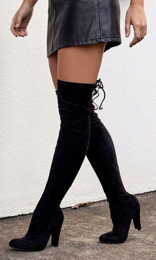 Skarlett Knee High Black Boots