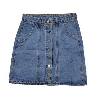 🚚 Denim Button Down Skirt