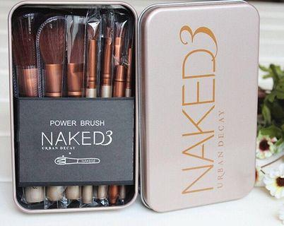 BNIB Naked 3 12 Makeup Brush Set Urban Decay